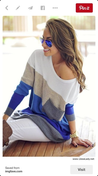 sweater striped shirt