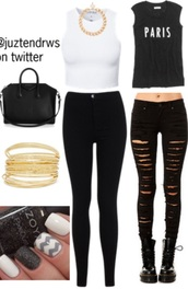 jeans,ripped jeans,black,streetstyle,madison beer,reasonable,top