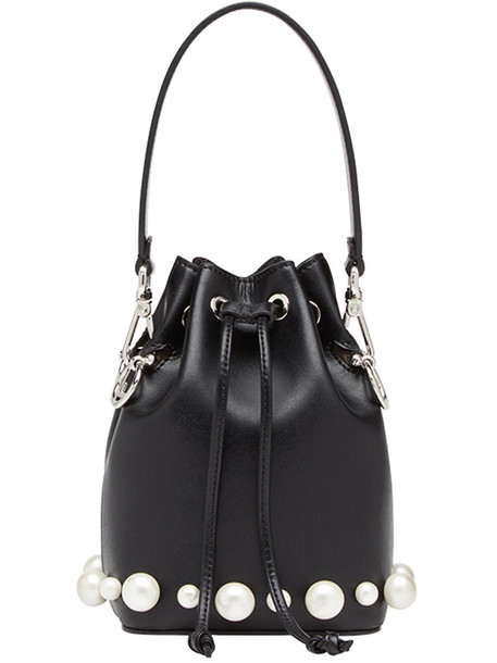 Fendi mini women bag mini bag leather black