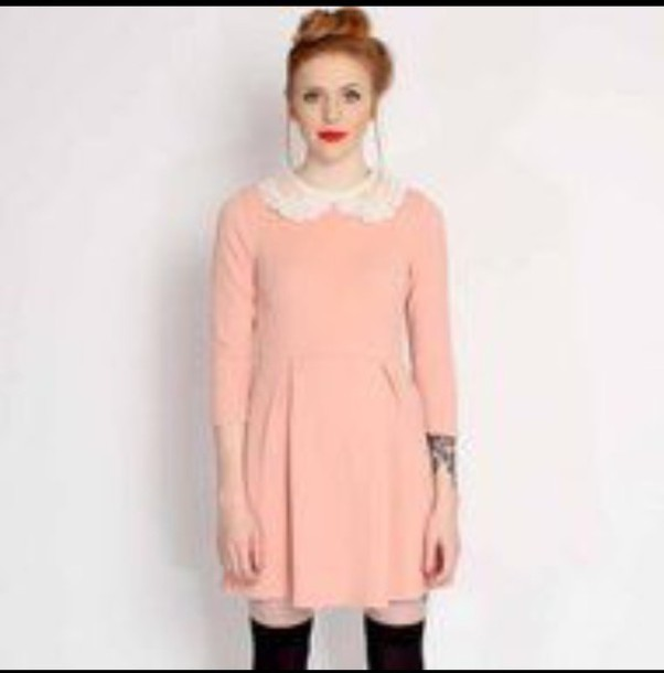 dress pink dress pink peter pan collar peter pan collar dress shift dress lace