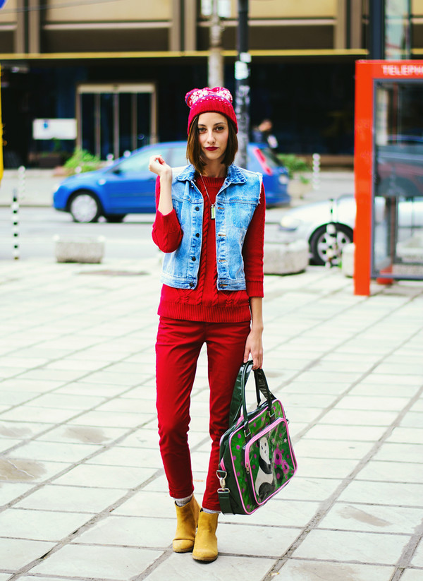 beauty insanity blogger jacket bag jeans