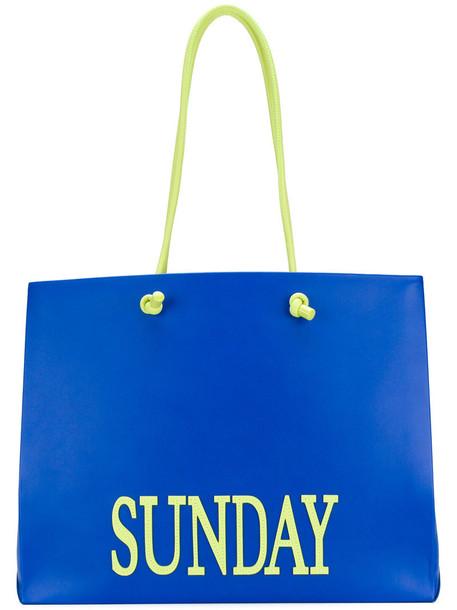 Alberta Ferretti women leather blue bag