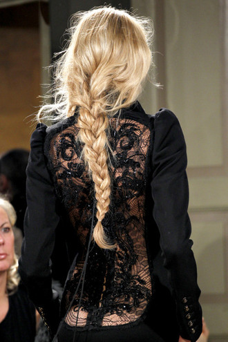dress black blonde girl braid
