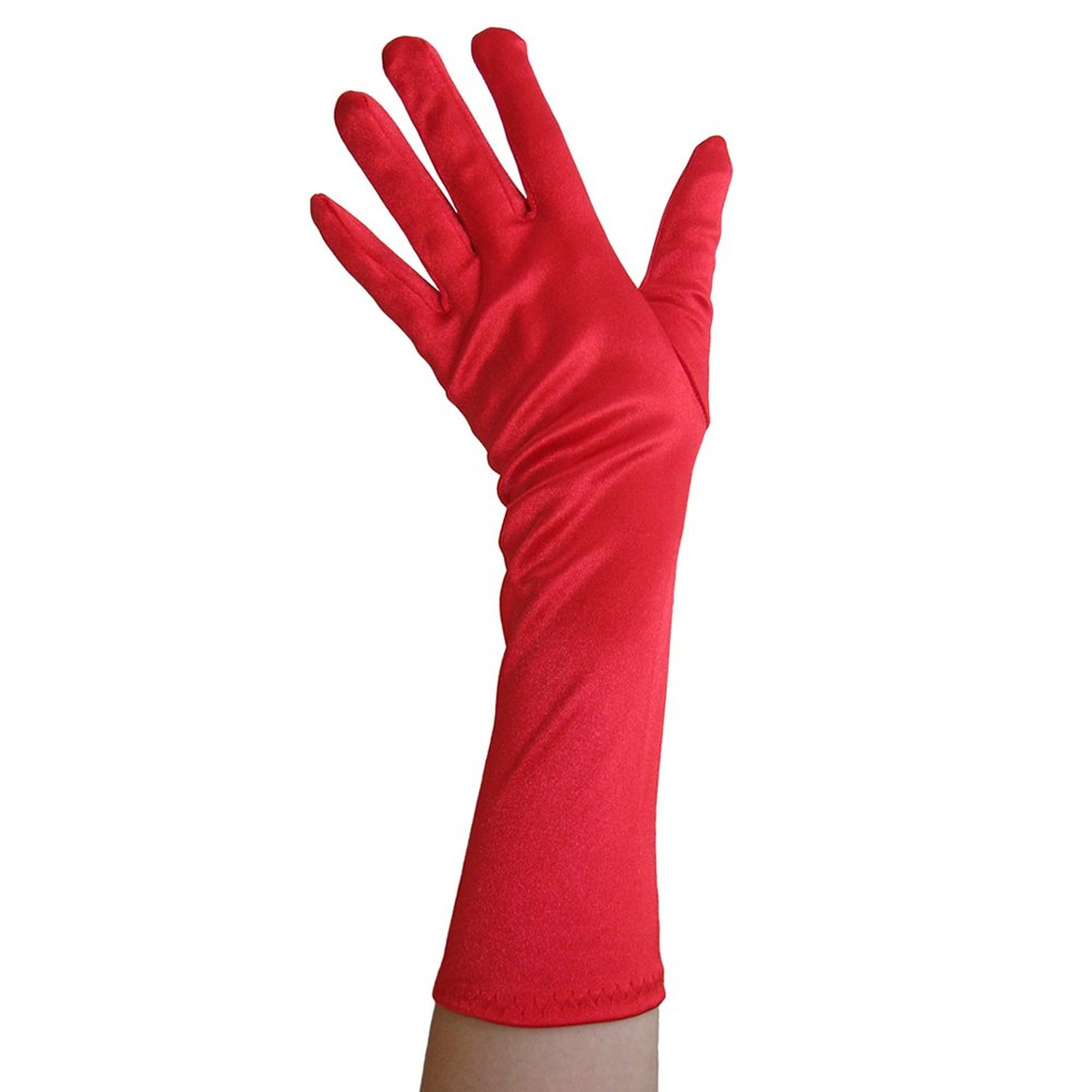 Fingerless gloves amazon - Amazon Com Red Satin Gloves Elbow Length Formal Wedding Theatrical Costume Party Clothing