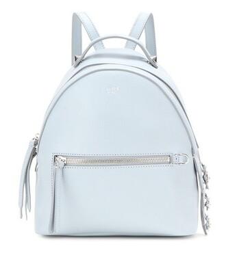 mini backpack leather backpack leather blue bag
