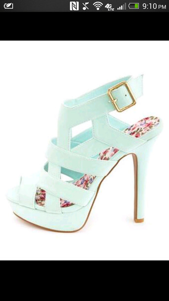 shoes baby blue high heels mint green shoes robins egg high heels strappy heels blue high heels mint high heels high heel sandals mint heels