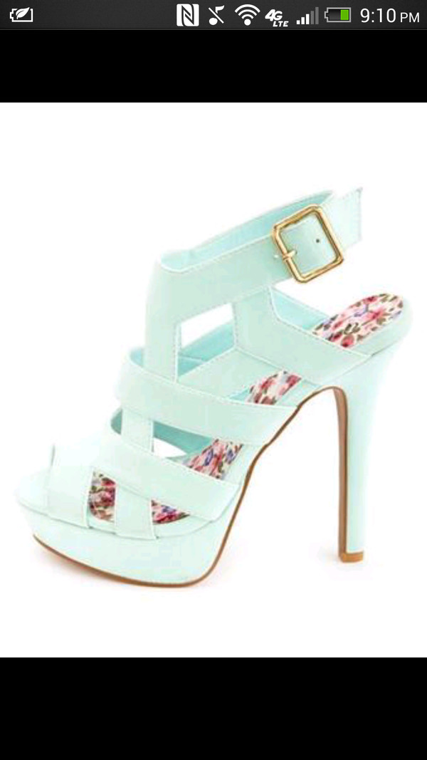 shoes baby blue high heels mint green shoes robins egg high heels strappy heels blue high heels mint high heels high heel sandals mint heels home accessory white bedroom teen bedrooms room bed bed frame tumblr bedroom bed room set bedding