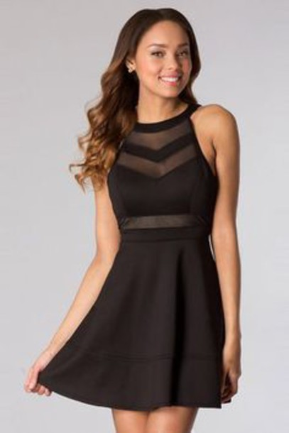 31244ab80a dress black see through high neck dress black dress skater skater dress  mesh dress mesh little