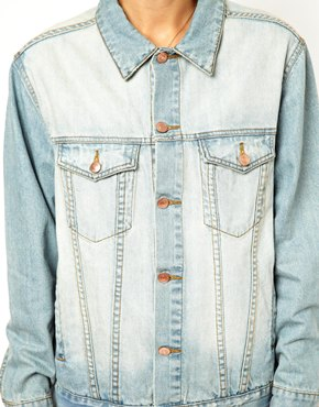 ASOS | ASOS Denim Jacket in Oversized Boyfriend Fit in Vintage Wash at ASOS