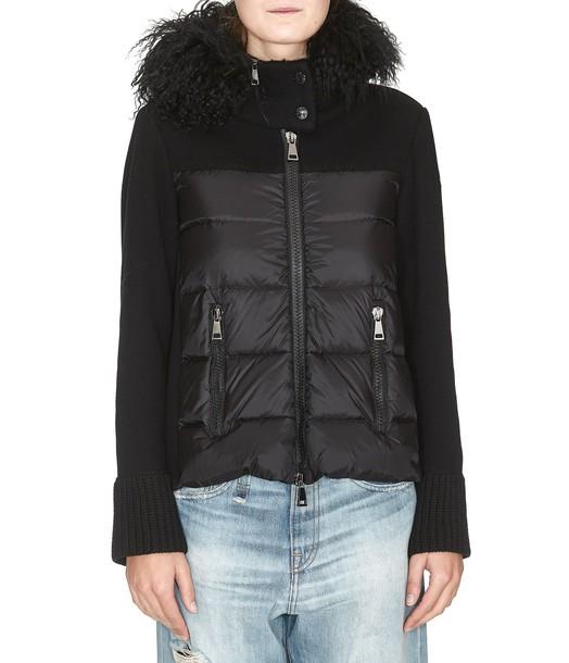 moncler cardigan cardigan black sweater