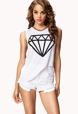 Basic Diamond Muscle Tee | FOREVER 21 - 2075661965