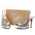 Red Bottom Christian Louboutin N Prive Fabric Glittered 120mm Slingbacks Silver
