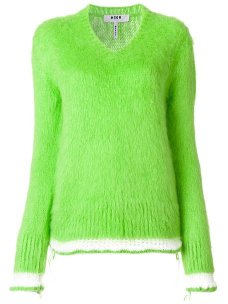 MSGM jumper women mohair green sweater