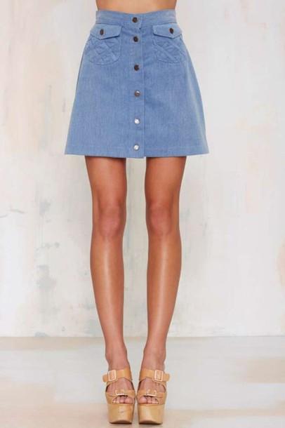 skirt blue suede skirt blue skirt mini skirt suede skirt button up skirt sandals platform sandals nude sandals