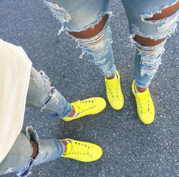 shoes yellow shoes adidas superstars adidas supercolor adidas
