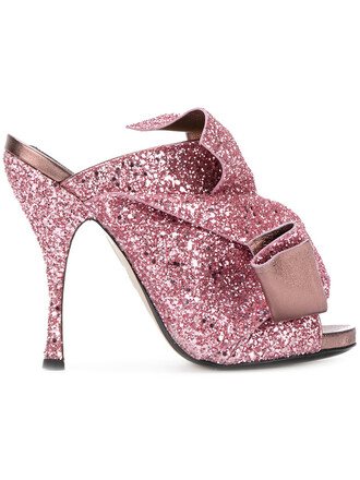 glitter women sandals leather purple pink shoes