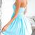 Strapless Hollow-Out Lace Chiffon Dress|Disheefashion