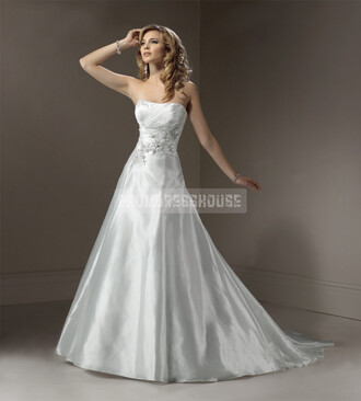 ball gown wedding dress fashion dress pleated