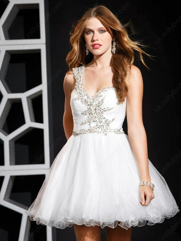 dress short prom dress white dress prom dress