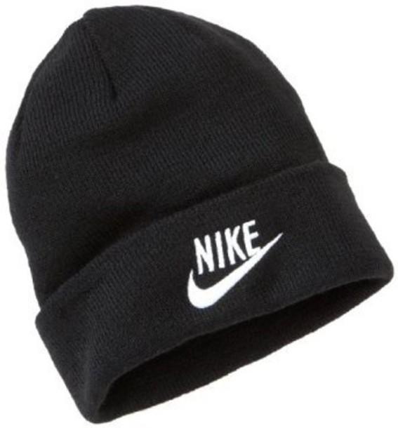 hat cotton black and white beanie nike nike beanie