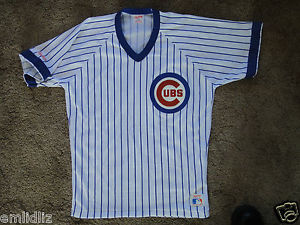 new concept 576ed a1bf8 Vintage Adult L Rawlings Chicago Cubs 17 Mark Grace Baseball Jersey Shirt  LNC | eBay