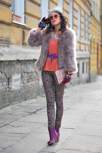 macademian girl coat t-shirt pants sunglasses shoes bag jewels belt