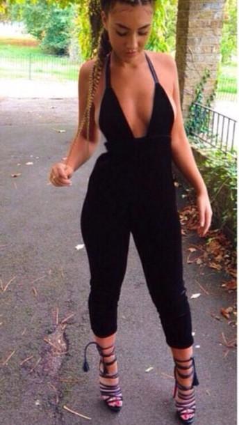 jumpsuit black jumpsuit