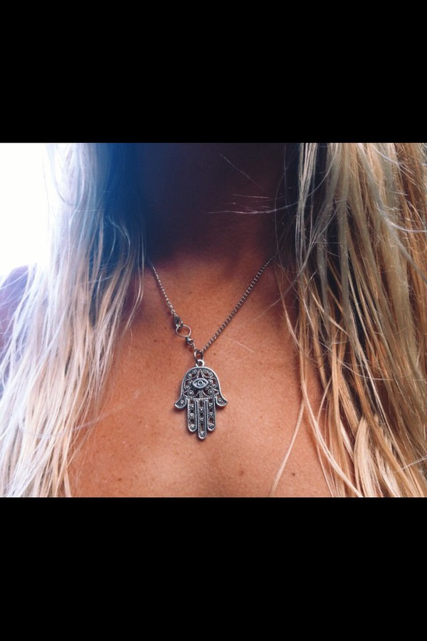 jewels amulet hamsa necklace silver