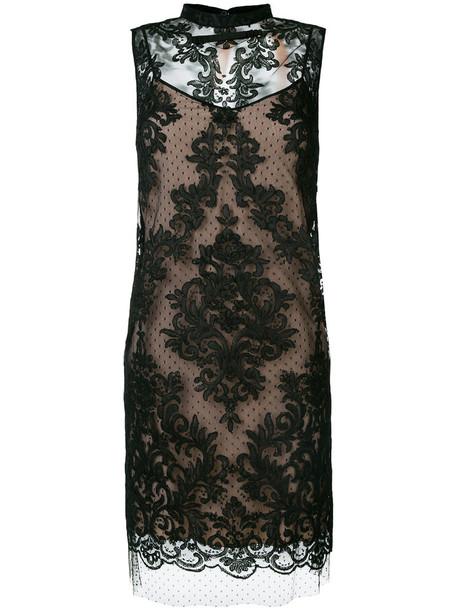 No21 dress women lace black silk