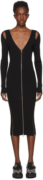 McQ Alexander McQueen dress bodycon zip black