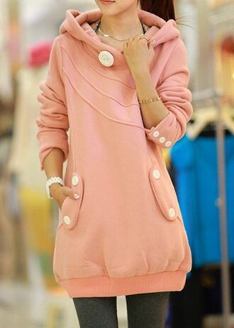 sweater dress pink hoodie cute girly fashion fall outfits winter outfits cozy warm