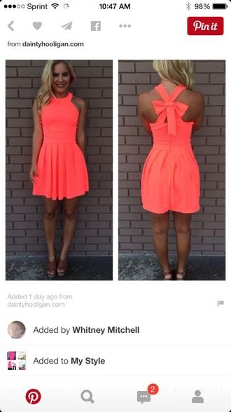 dress neon summer bow