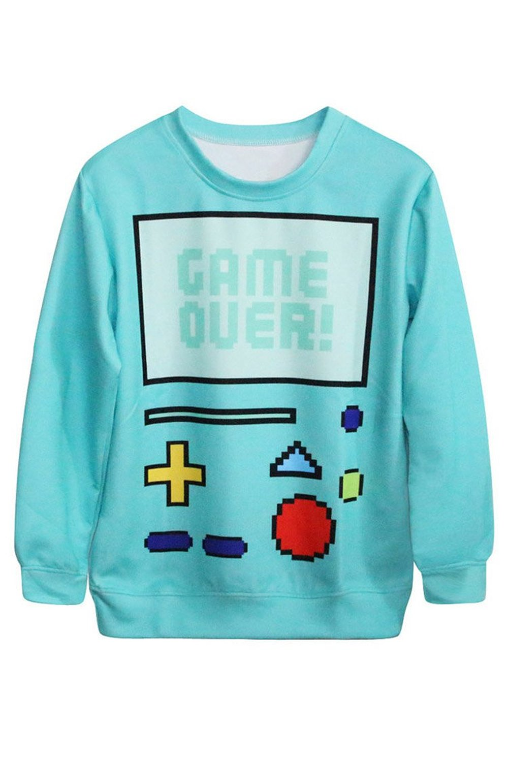 Queen Womens 3d Cartoon Print Long Sleeve Sweater Pullover ...