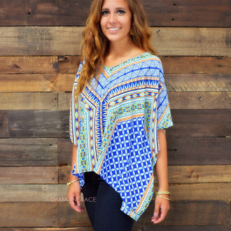 top royal blue and orange fall outfits fall top geo print geometric trendy amazing lace shirts with skinny jeans