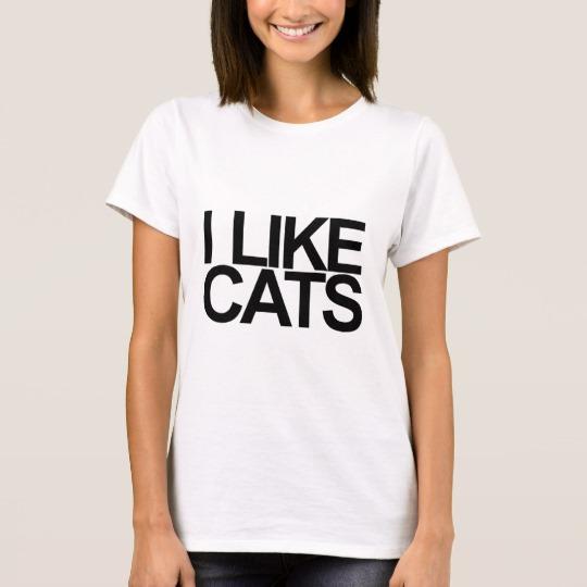 I Like Cats T Shirt