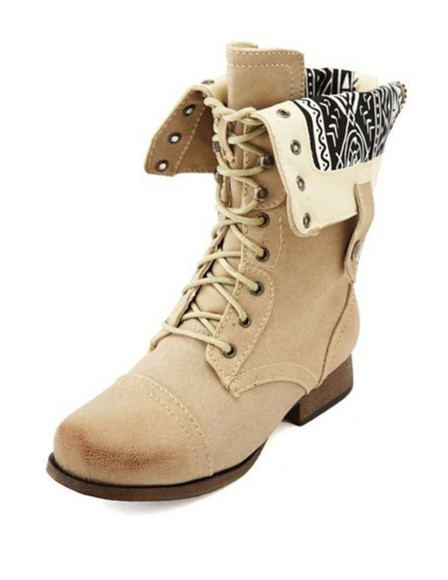 shoes combat boots aztec light brown
