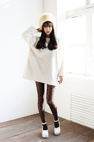 sweater oversized sweater oversized white sweater white white top cute kawaii cute sweater girly ulzzang korean fashion korean style sweater dress white dress korean dress big sweaters casual simple et chic a simple v