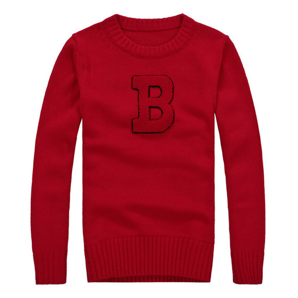 sweater red sweater winter sweater women long sleeves letters printing o neck casual dress