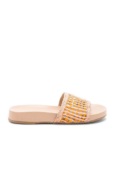 pool orange shoes