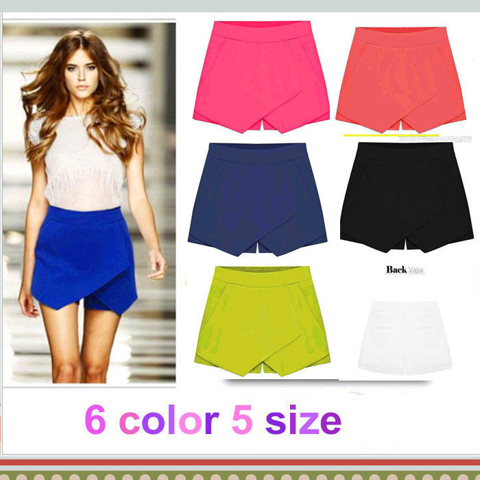 Hot Korean Fashion Tiered Asymmetric Wrap Shorts Skorts Skirts Mini Short Pants | eBay