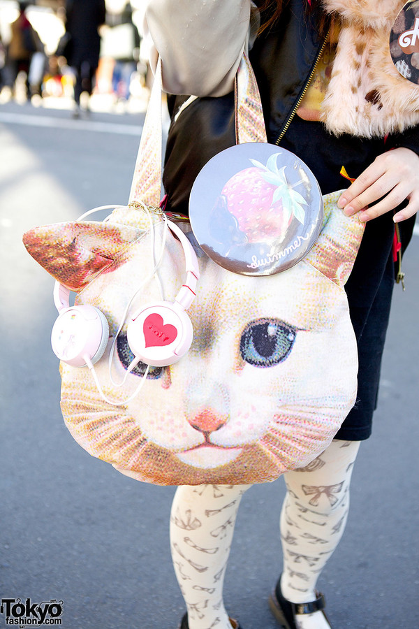 bag kawaii harajuku cat print bag cats hello kitty bag kawaii bag