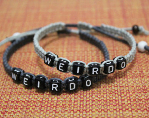 jewels friendship bracelet grey bracelet black bracelets weirdo couple bracelet