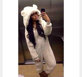 pajamas onesie cream onesie bear onesies adult animals onesie animal onesies