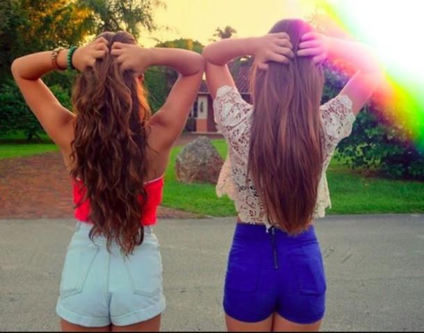 Фото красивых девушек на аву без лица с подругой