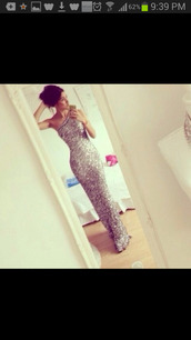 dress,silver,sequence,sparcles,glitter,prom,formal,evening dress