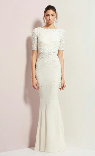 dress elegant white