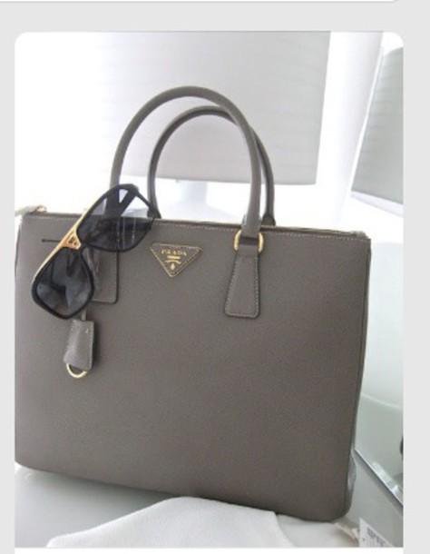 bag prada grey