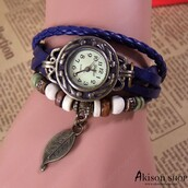 hair accessory,$5.99 free shipping women vintage leather quartz wrist watch leaf pendent watches s001,leather wrist watch,women watch,woman wrist watch,watch,brown watch,leaf headband,retro watch,quartz watches,buy watches online,wristband,bracelets,leather bracelet,charms,charms bracelet,leather charms bracelet