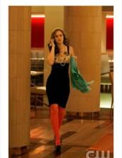 dress,gossip girl,blair,tights