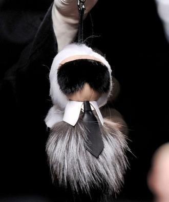 jewels karl lagerfeld fendi fur fur keychain designer fashion week